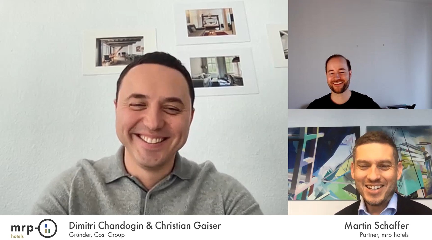 mrp hotels Videocast mit Dimitri Chandogin und Christian Gaiser – Cosi Group
